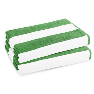Classic Resort Egyptian-Quality Cotton Beach Towel Color: Sea Grass Green