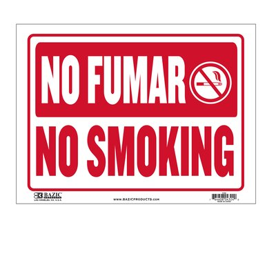 No Fumar / No Smoking Sign