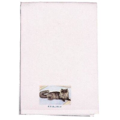 Pets Cat on Rug Hand Towel (Set of 2)