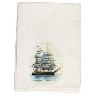 Coastal Whaling Ship Hand Towel (Set of 2)