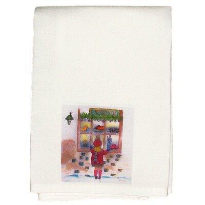 Holiday Girl at Window Hand Towel (Set of 2)