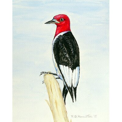 Woodpecker Garden Flag Size: Large