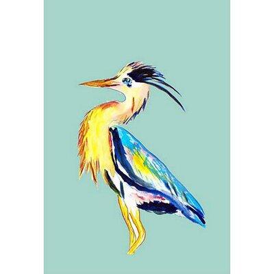 "Blue Heron Vertical Flag Size: 12"" W x 18"" H"