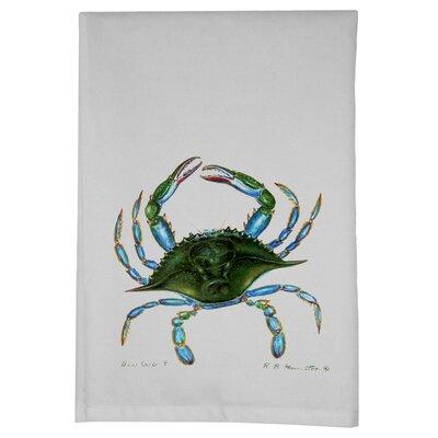 Coastal Crab Hand Towel (Set of 2) Color: Blue