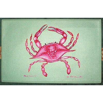 Betsy Drake Interiors Coastal Crab Doormat