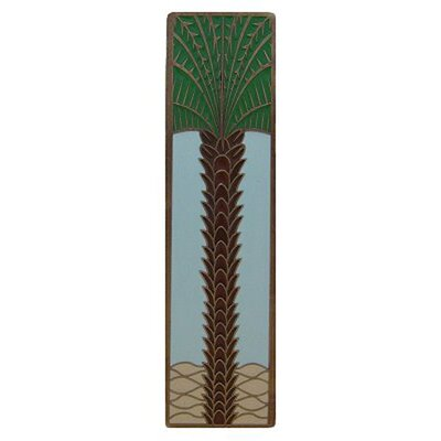 """Tropical 3"""" Center Bar Pull Finish: Antique Brass/Pale Blue"""