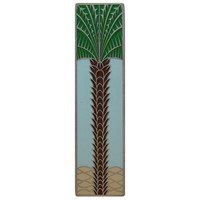 """Tropical 3"""" Center Bar Pull Finish: Antique Pewter/Pale Blue"""