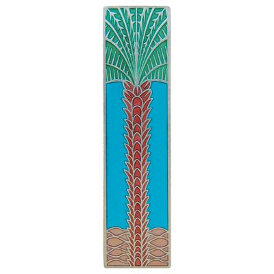 """Tropical 3"""" Center Bar Pull Finish: Brilliant Pewter/Turquoise"""