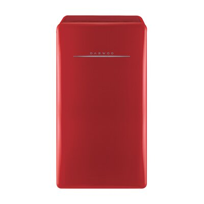 4.4 cu. ft. Compact Refrigerator Color: Pure Red
