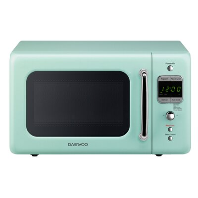 Retro 17.6'' 0.7 cu. ft. Countertop Microwave Color: Mint Green