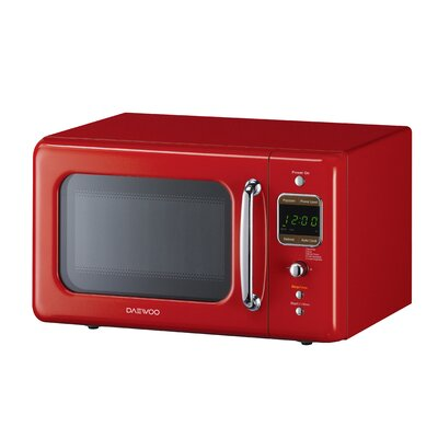 Retro 17.6'' 0.7 cu. ft. Countertop Microwave Color: Pure Red