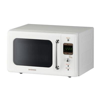 Retro 17.6'' 0.7 cu. ft. Countertop Microwave Color: White