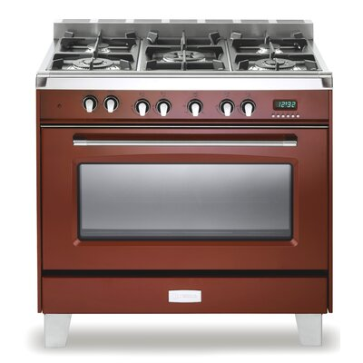 "36"" Free-standing Dual Fuel Range Finish: Gloss Red"