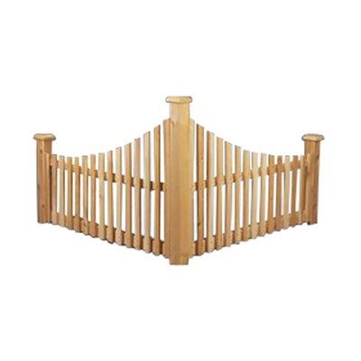 Rustic Natural Cedar Furniture 2.5' x 4' Cedar Corner Fence
