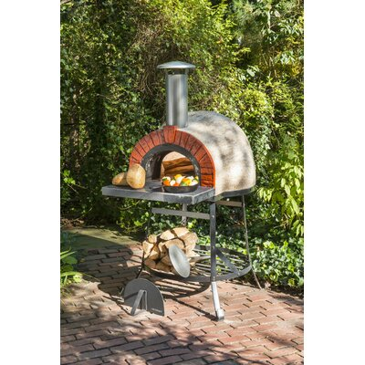 Rustic Natural Cedar Furniture Rustic Wood Fired Oven - Faux Brick Front