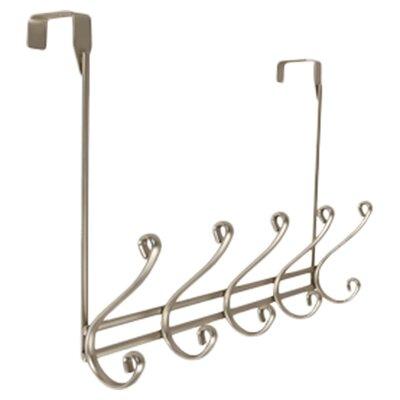 Over-the-Door 5 Hook Rack Color: Satin Nickel