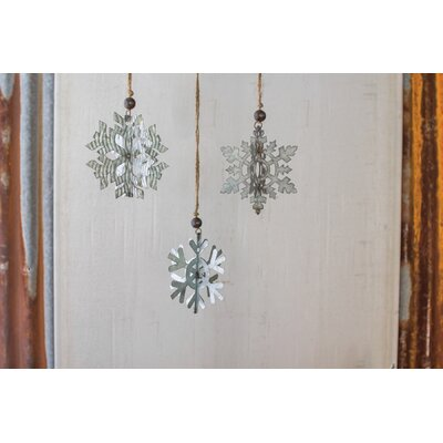 3 Piece Snowflake Shaped Ornament
