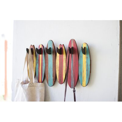 Colorful Surfboards Wall Mounted Coat Rack