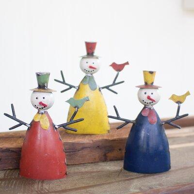 Recycled Metal Snowmen