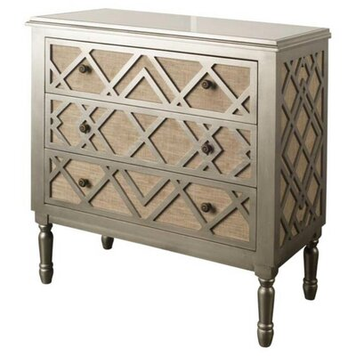 Daniela Pewter 3 Drawer Accent Chest