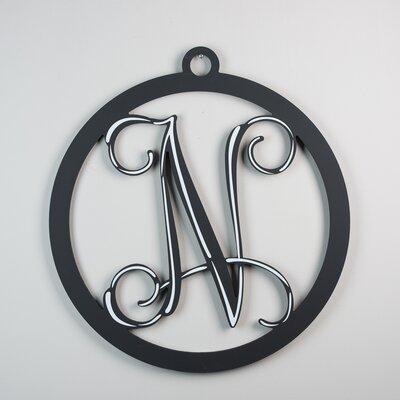 1-Line Hanging Sign Finish: Black, Letter: N