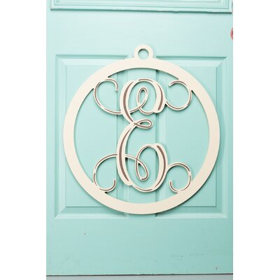 1-Line Hanging Sign Letter: E, Finish: Cream