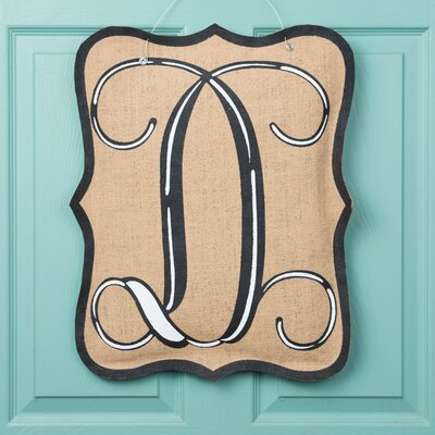 1-Line Wall Address Plaque Letter: D