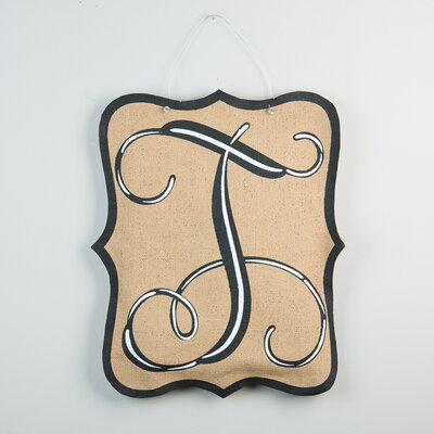 1-Line Wall Address Plaque Letter: T