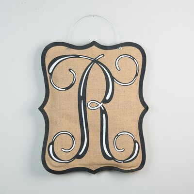 1-Line Wall Address Plaque Letter: R