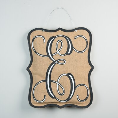 1-Line Wall Address Plaque Letter: E
