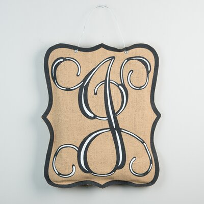 1-Line Wall Address Plaque Letter: J