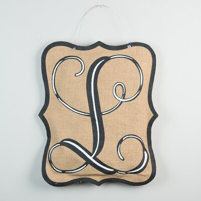 1-Line Wall Address Plaque Letter: L
