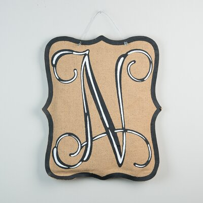 1-Line Wall Address Plaque Letter: N