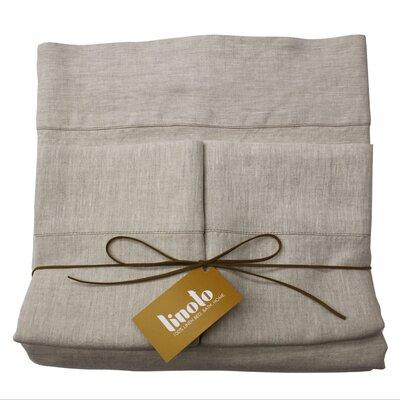 Linen Sheet Set Color: Natural Oatmeal, Size: King