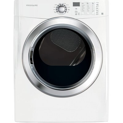 7.0 cu. ft. Gas Dryer with Ready Steam Color: White