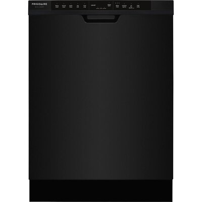 """24"""" 54 dBA Built-In Dishwasher with Orbit Clean Color: Black"""