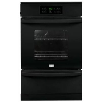 24'' Single Gas Wall Oven Color: Black