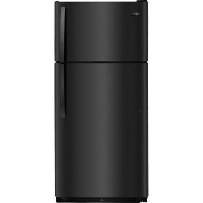 18 cu. ft. Top Freezer Refrigerator Color: Black