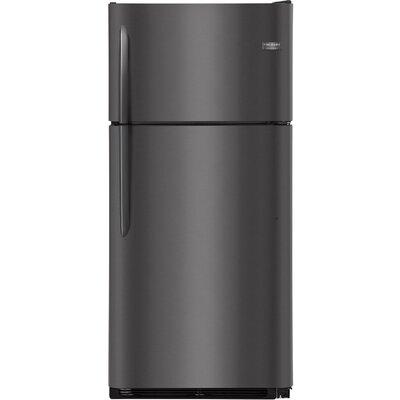 18.1 cu. ft. Top Freezer Refrigerator with LED Lighting Finish: Black