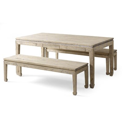 Shimu Chinese CountryDining Table and 2 Benches