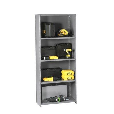 "Q Line Closed 7 Shelf Shelving Unit Starter Finish: Light Grey, Size: 36"" x 18"" x 87"""