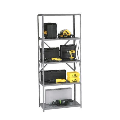 "Q Line Open 7 Shelf Shelving Unit Starter Finish: Sand, Size: 87"" H x 36"" W x 24"" D"