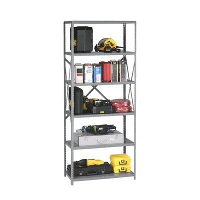 "Q Line Open 7 Shelf Shelving Unit Starter Finish: Sand, Size: 87"" H x 48"" W x 24"" D"