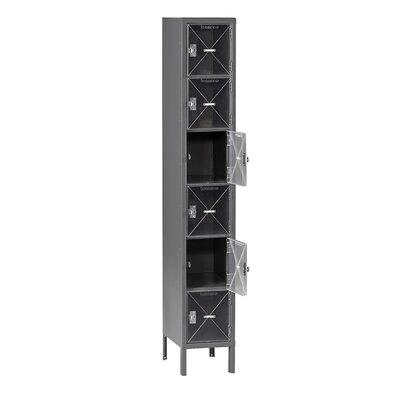 6 Tier 1 Wide Storage Locker Color: Medium Gray