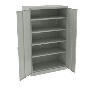"Jumbo 78"" H x 48"" W x 24"" D Storage Cabinet Finish: Light Gray"