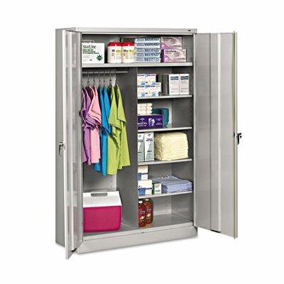 """Jumbo 78""""H x 18""""D 2 Door Storage Cabinet Color: Light Gray"""