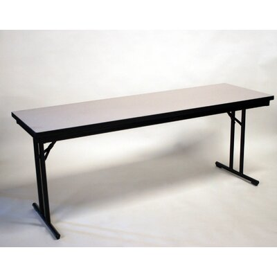 "30"" W Training Table with Modesty Panel Base Finish: Black, Tabletop Finish: Windsor Mahogany, Size: 29"" H x 30"" W x 72"" D"