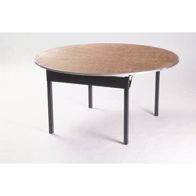 "Original Series Round Folding Table Frame Finish: Silver, Size: 60"" Diameter, Top / Edge: Laminate Pewter Brush / Channel Aluminum (CAE)"