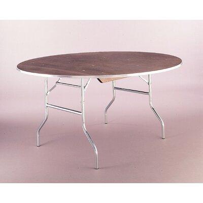 "Standard Series Round Folding Table Edge: Channel Aluminum Edge (CAE), Size: 48"" Diameter, Frame Finish: Silver"