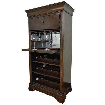 Bar Cabinet With 15 Bottle Wine Bar Color: English Tudor